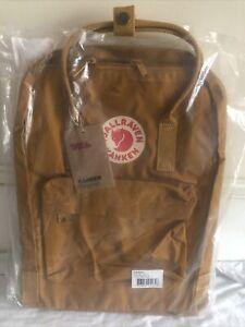 NEW Genuine Fjallraven Kanken Classic Backpack - Acorn Laptop Bag 23510
