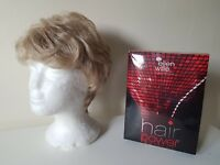 Ladies crop short ELLEN WILLE ash blonde WIG new boxed wavy