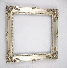 SHABBY CHIC SQUARE ORNATE PICTURE FRAME ANTIQUE BLACK IVORY GOLD SILVER OR WHITE