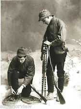 Old Time Snowshoe Hunters 1890 Vintage Snowshoes Marquette MI Winchester Rifles