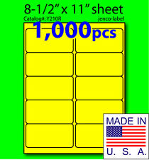 Y210R, 1,000 Yellow Fluorescent Address Labels, 4x2