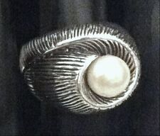 Sterling Silver Pearl Ring By AphOrism - Very Unique