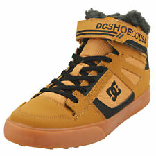 DC Shoes Pure High-top Wnt Ev Kids Wheat Leather & Synthetic Casual Boots