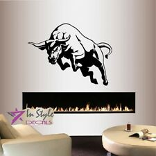 Wall Vinyl Decal Angry Bull Animal Room Removable Wall Mural Art Sticker 700