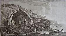 CARDON d'après GIUSEPPE BRACCI : Tempio di Mercurio and Costa di Baia...18 ème