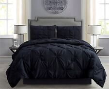 Empire Home Pintuck Hypoallergenic 4-Piece Comforter Set - Bed Skirt Included