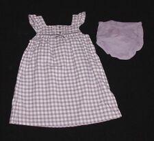 EUC Janie & Jack Girls WOODLAND WONDERS Purple Plaid Dress 12-18 M VHTF