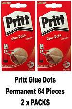 Pritt Glue Dots Permanent 64 per Wallet (TWIN PACK)