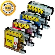 4 pk Ink Cartridge Set + chip for Brother LC201 LC203XL MFC J460DW J480DW J485DW