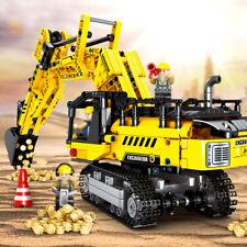 841pcs Engineering Truck Excavator Building Blocks set with Figures Toys Bricks