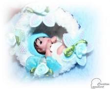 Monhart Puppenstuben Mini Reborn Puppen Baby ca 5 cm Weihnachts Kugel Handarbeit