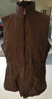 FE EDITION Damen weiche Stepp-Weste braun Größe 44 - Futter Wattierung Polyester
