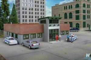 Modern Police Station HO Kit - Walthers Cornerstone #933-4201  vmf121