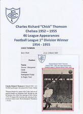 CHICK THOMSON CHELSEA 1952-1955 RARE ORIGINAL HAND SIGNED MAGAZINE CUTTING