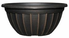 Planter, 12 - Inch Bowl, Antique Copper , Plastic , Pot , Indoor / Outdoor