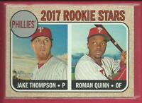 Roman Quinn RC 2017 Topps Heritage Rookie Stars Card # 275 Phillies Baseball MLB