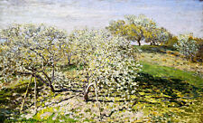 Spring Fruit Trees in Bloom A1 by Claude Monet High Quality Canvas Print