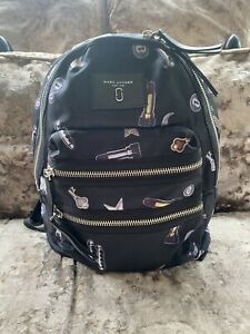Marc Jacobs Backpack Biker Tossed Charms Print