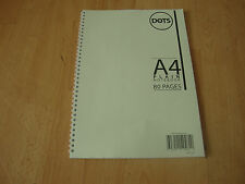 A4 Twinwire Spiral Plain Notebook Drawing Book Sketching Book 80 Pages 80gsm