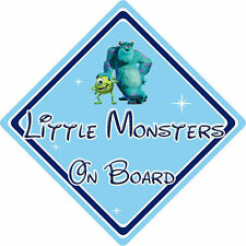 Little Monsters On Board Car Sign - Baby On Board - Disney Monsters Inc