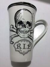 "222 Fifth LRG Skull Crossbones Flare Latte Mugs ""R.I.P"" - NEW"