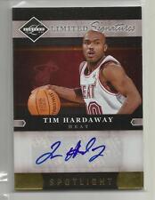 2011-12 Limited Basketball Tim Hardaway Gold Spotlight Auto Card # 2/24  CSC