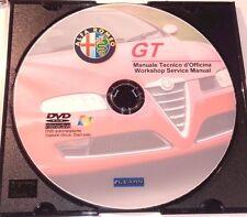 DVD MANUALE OFFICINA ALFA ROMEO GT 1.8 T.SPARK - 2.0 JTS - 3.2 V6 - 1.9 JTD 16V