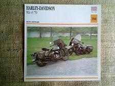 Scheda moto Harley-Davidson WLA 45 750 - anno 1946