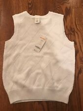NWT Gymboree Boys Sweater Vest White Argyle Diamonds GYM27