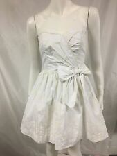 Womens LILLY PULITZER Sz XS X-Small White/Cream Print Strapless Fit Flare Dress