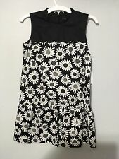Victoria Beckham For Target Girls Black Mini Daisy Dress Medium 7/8