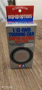 TAMIYA 53228 1/10 4WD TOURING CAR SUPER SLICKS WIDE (1 PAIR)