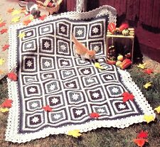 CLASSIC Autumn Floral Print Afghan/Crochet Pattern INSTRUCTIONS ONLY