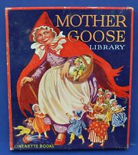 Linenette Books Mother Goose Library Boxed Set of 8 books #2014 Exc 1930s