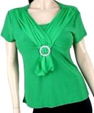 Green Short Sleeve Junior Plus Size Top Blouse 3 XL New Without Tag