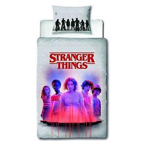 Stranger Things Single Duvet Cover & Pillowcase Set Two-sided Bedding Netflix