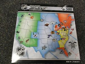 Masterpieces NHL Hockey Map Puzzle 500 Pieces NEW Jigsaw Puzzle
