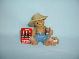 CHERISHED TEDDIES DEWEY COCA COLA Ceramic Figure Figurine (ENESCO/COKE BOTTLE)