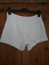 Rebecca Minkoff Ivory White Dressy Shorts with Lazercut Size  6 BNWT