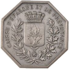 [#57809] France, Savings Bank, Token, Au(55-58), Silver, Jacqmin #41, 22.51