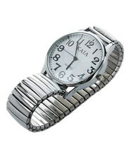Large Numbers Stretchy Steel  Wrist Watch fr31