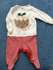 Next Little Pudding Christmas Outfit 0-3 Months