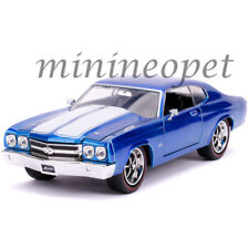 JADA 31450 BIGTIME 1970 CHEVY CHEVELLE SS 1/24 DIECAST MODEL CAR BLUE