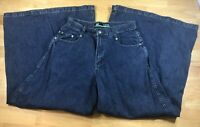 Vintage 90s Men's Kikwear Wide Leg Jeans Raver Club Kid Skater Denim Size 30 Eu