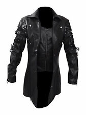 New Arrival Steampunk Mens Gothic Trench Leather Coat/Jacket