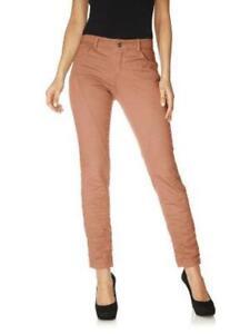 Y58 Rick Cardona Damen Hose Chino Jeans Stretch lachs Kurzgröße 18 010586