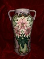 Rare Moorcroft Blakeney Mallow Large Twin Handled Vase