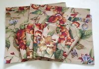 (6) NEW WAVERLY Tan Floral PLACEMATS + (6) Matching NAPKINS