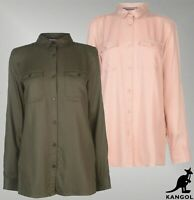 Ladies Kangol Button Fastening Military Top Long Sleeve Shirt Sizes from 8 to 16