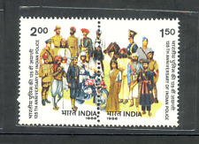 India-1986 Se-tenant Indian Police 1986 litle Stains on Gum Side  MNH